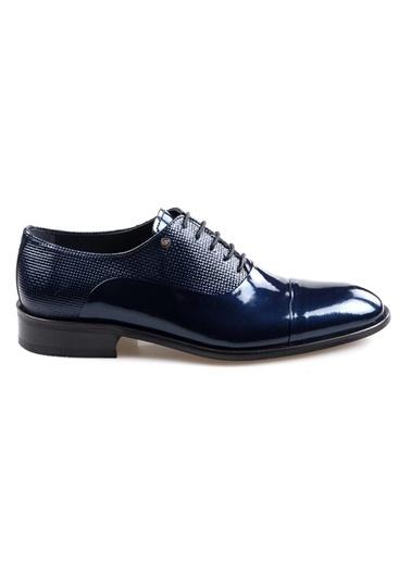 Smart Smart 1602 Lacivert Erkek (39-44) Klasik Bağcıklı Rugan Deri Ayakkabı Lacivert